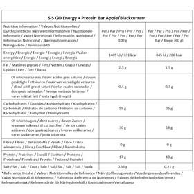SiS GO Energy Bar + Protein Box 24 x 60g, Apple/Blackcurrant